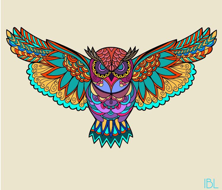 #FreeToEdit #colorful #coloringbookforme #owls #multicolored