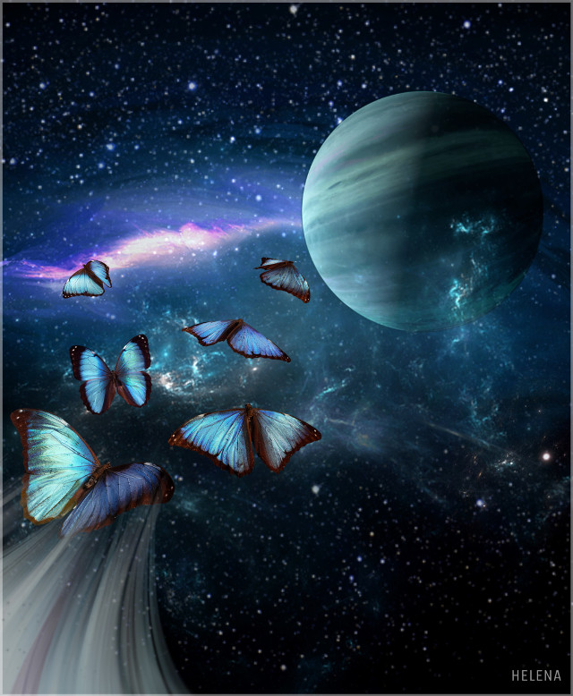Butterflies in Outerspace 😜#galaxy #planet #space #stars #nebula #butterflies #clipart #edited #myedit #FreeToEdit