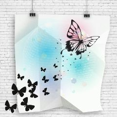 papereffect illustration digitalart dibujo butterfly