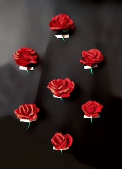 freetoedit paper roses red black