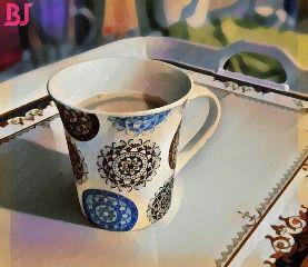 freetoedit nescafe morning coffee cup
