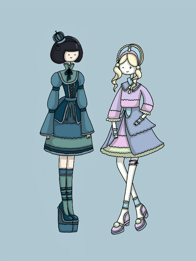 Sweet lolitas💙💜   #loli  #lolita  #girl  #dress   #beauty  #pastel