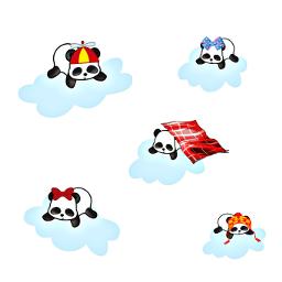 freetoedit cute pandacloudremix