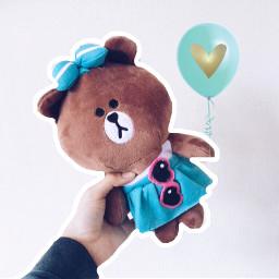 sadbear valentineballoons balloon teddybear edited freetoedit