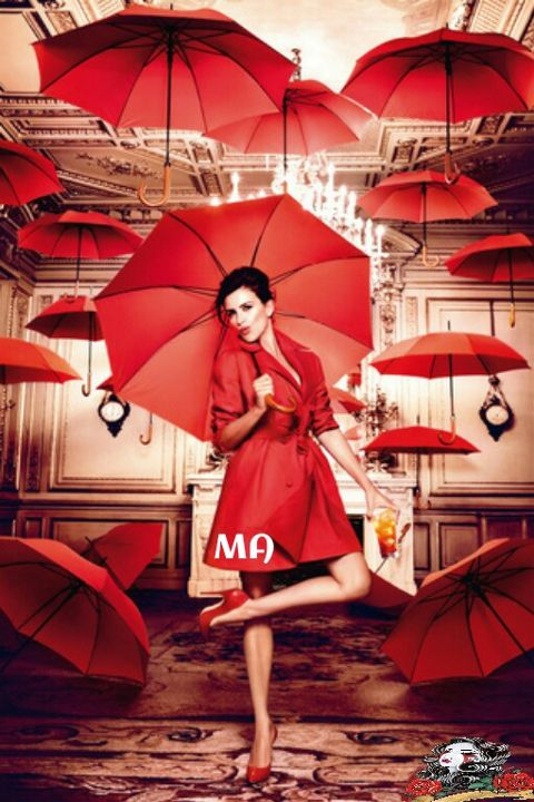 freetoedit colorful red girl umbrella