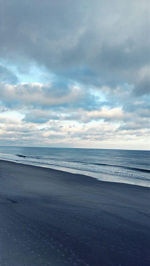 beautiful sky ocean clouds beach