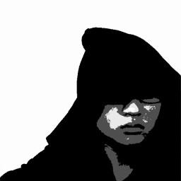 enchancement blackandwhite portrait artisticselfie dark