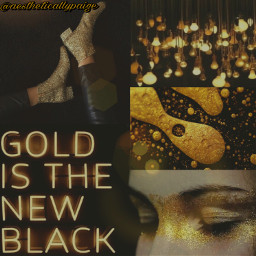 aesthetic black gold blackandgold aestheticallypaige