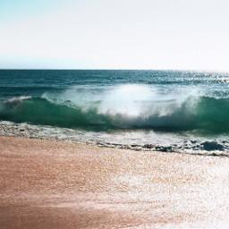 nature beachview wave horizon sunnybrightsky