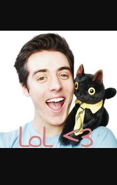 Youtuber With Cat On Shoulder