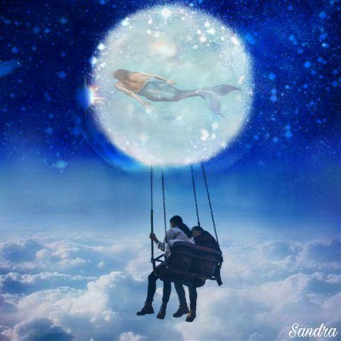 freetoedit emotions sky moon love