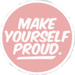 make yourself proud kawaii pastel aesthetic quote FreeToEdit