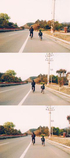 路上总会有你意想不到的风景 温馨的父子俩 love