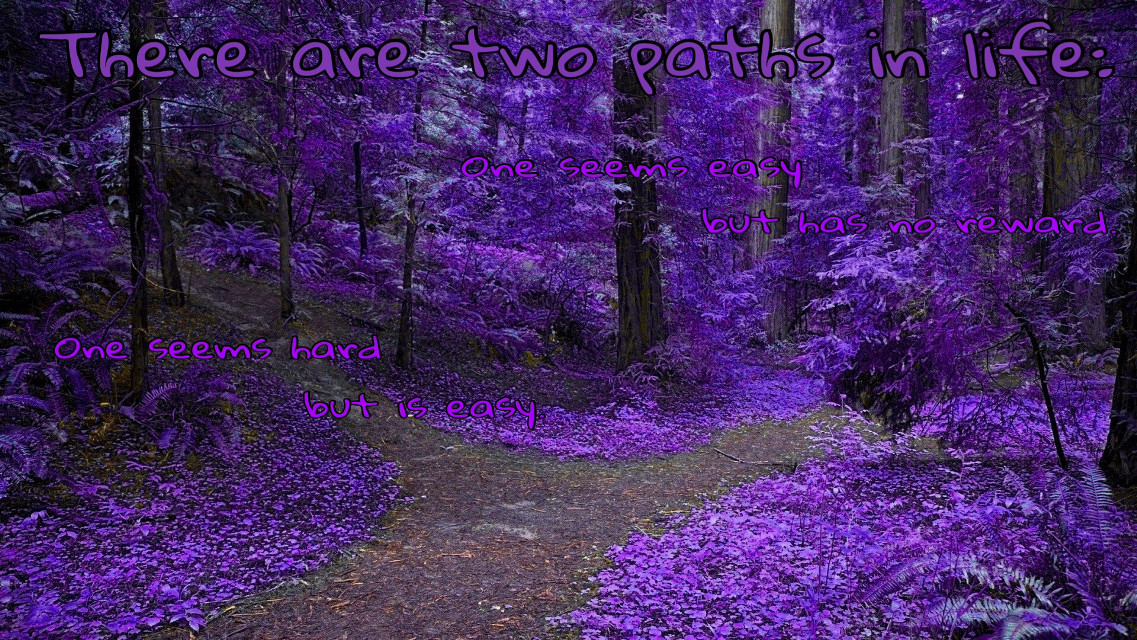 #quotes&sayings #purple #wood #paths #FreeToEdit