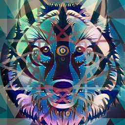 FreeToEdit Remixed Inspiering Wolf Cute Wolfie