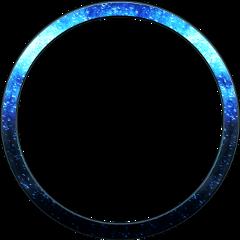 ftestickers blue oval frame freetoedit